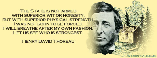 henry david thoreau libertarian individualist ecophile rebel  filed under gardening literature nature